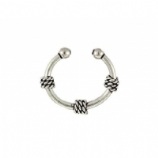 Tiny Rope Style Sterling Silver Fake Septum Ring
