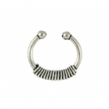 Tiny Spring Style Sterling Silver Fake Septum Ring