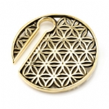 Brass Geometric Ear Weight - 8mm