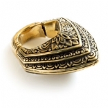 Brass Ear Weight - Antique Pattern Tear Drop Hoop Ring - 6mm