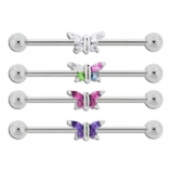 Crystal Butterfly Scaffold Barbell