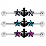 Anchor & Nautical Stars Scaffold Barbell