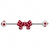 Polka Dot Bow Ribbon Scaffold Barbell