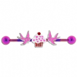 Cupcake and Swallow Candy Stripe Scaffold Bar