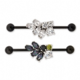 Crystal Cluster Black Scaffold Barbell