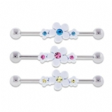 White Daisy Scaffold Industrial Barbell