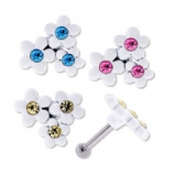 Triple Daisy Flower Tragus Bar