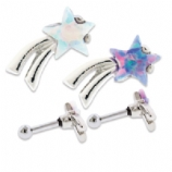 Opal Shooting Star Cartilage/Helix Barbell