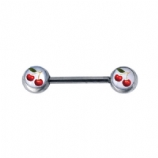 'Cherry' Forward Facing Logo Nipple Bar