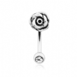 3D Rose Curved Micro Barbell - 1.2mm