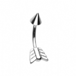 Arrow Style Curved Micro Barbell - 1.2mm