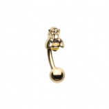 Yellow Bee 1.2mm Curved Barbell