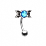 Moon Goddess Crescent Moon Curved Bar 1.2mm