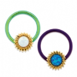 Opal Sunflower BCR Ball Closure Ring