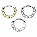 Chained Up Septum Clicker Ring
