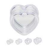 Clear Heart Flared Tunnel 8mm-16mm