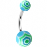 Cobweb Belly Piercing Bar