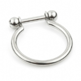 Single Band Conch Cuff Titanium Ring - 1.2mm Barbell