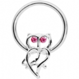 Owl Outline BCR Ball Closure Ring