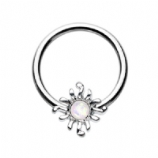 Opal Sun Ball Closure Ring 1.2mm