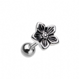 Cute Five Petal Flower Surgical Steel Tragus / Helix Bar - 1.2mm