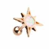 Rose Gold Sunburst Opal Tragus / Helix Bar