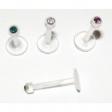 Bio-Flex Push Fit Gem Monroe Piercing Lip Stud