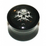 Vampire Ghost Skull Logo Large Gauge Ear Plug 10mm - 24mm