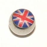 Union Jack Logo Ball For 1.6mm Body Bars
