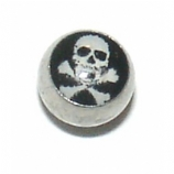 Skull & Crossbones Logo Ball For 1.6mm Body Bars