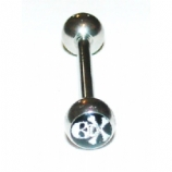 Skull & Crossbones Logo Ball Tongue Piercing Bar