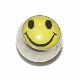 Smiley Face Logo Ball For 1.6mm Body Bars