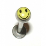 Acid Man Smiley Face Logo Ball Lip Labret Stud