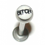 Bitch Logo Ball Lip Labret Stud