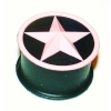 Pink Star Black Kaos Softwear Silicone Plug 8mm - 25mm