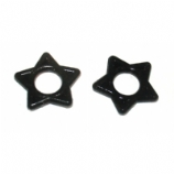 Star Shaped Black O-Rings For Plugs, Tunnels etc