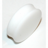 Large/Giant Gauge White Flared Acrylic Ear Plug 10mm - 30mm