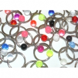 Colourful UV Bead Ball Closure Ring
