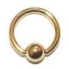 Solid 9ct Gold Ball Closure Ring - 1.6mm x 12mm