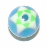Star Mosaic UV Ball For 1.6mm Body Bars