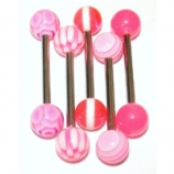 Five PINK UV Tongue Bars Value Pack