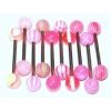 Ten PINK UV Tongue Bars Value Pack