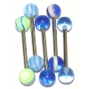 Five BLUE UV Tongue Bars Value Pack
