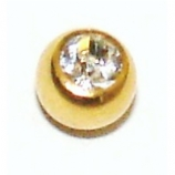 5mm Spare Solid Gold Crystal Ball For 1.6mm Body Bars