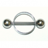 Plain Nipple Rounder Shield & Bar