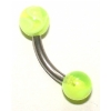 Colourful Curved Barbell For Vertical Hood Piercing