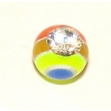 Spare Crystal Rainbow UV Ball For 1.6mm Body Bars