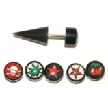 Funky Logo Black Taper Fake Plug - 28 Logos To Choose From