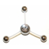 Three Way Belly Piercing Bar For Triple Navel Piercings