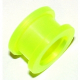 Green Acrylic Screw On Flesh Tunnel 3mm - 20mm